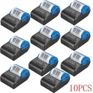 10x 58mm Wireless Bt Usb Thermal Receipt Printer Line Mobile Pos Ios Android Lot