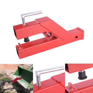 Clamp On Trailer Receiver Hitch 2 Ball Mount Deere Bobcat Tractor Bucket Red