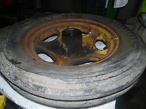 John Deere H Tractor Left Side Front Tire And Wheel Assembly