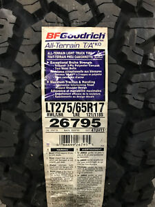 4 New Lt 275 65 17 Lre 10 Ply Bfgoodrich All Terrain T A Ko Tires