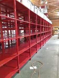 Industrial Steel Shelving 96 X 36 X 36 unit Set Of 3 up To 32 Units