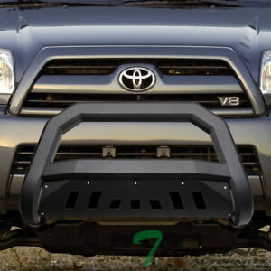 Topline For 2003 2009 Toyota 4runner Avt Bull Bar Bumper Grille Guard matte Blk