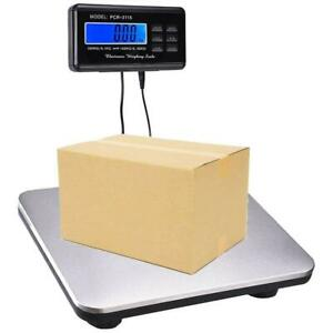 Digital 660lbs Lcd Ac Stainless Steel Platform Post Office Electronic Scale New