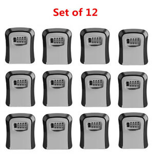 12pack 4 Digit Combination Password Safety Key Lock Box Organizer Wall Mounted
