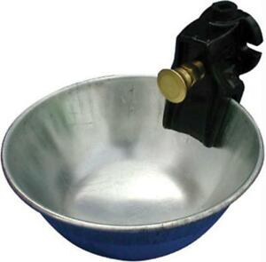 Metal Push Button Water Bowl For Cattle