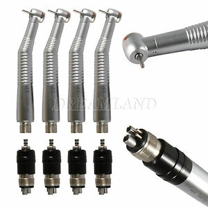 4 Nsk Style Dental High Speed Handpiece Turbine Mini Head 4hole Quick Coupler Rx