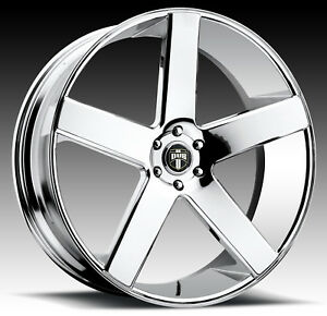 Cpp Dub S115 Baller Wheels Rims 22x9 5 Fr 24x10 Rr 5x5 Chrome