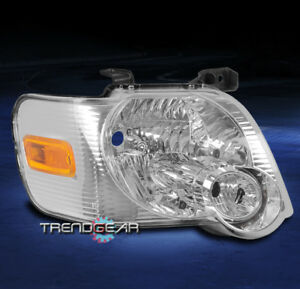 For 2006 2010 Ford Explorer Replacement Headlight Headlamp Lamp Chrome Passenger