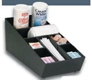 Dispense rite Stackable Countertop Lid Straw Condiment Organizer Black