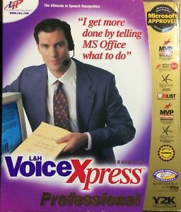 L H Voice Xpress Professional Version 4 say It Watch It While It Types Cool