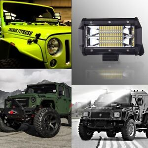 2x Bracket 5 Led Work Light Bar Flood Driving Lamp Jeep Truck Boat Offroad