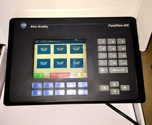 Allen Bradley 2711 b6c1 Panelview 600 B Frn 3 15 Color Keypad touch Works Tested