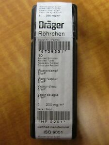 Lot Of 10 Draeger Glass Detector Tubes For Water Vapor 5 250mg m3 Range New