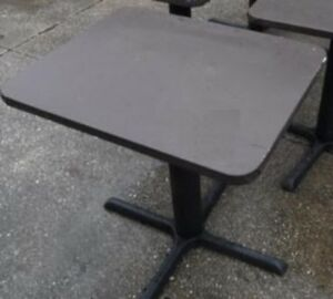 Restaurant Equipment 29 Standard Height Table Top With Base 30 X 24 Brown Vin