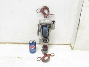 Little Mule 344 2000 4000 Lb 1 2 Ton Strap Chance Lever Belt Hoist Come Along