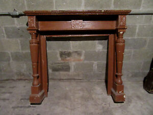 Antique Carved Fireplace Mantel 54 25 X 48 Architectural Salvage