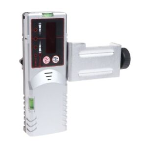 Level Laser Detector 635nm Red Beam Light Cross Line Outdoor Receiver With Clamp