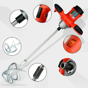 Electric Mortar Mixer 1600w Dual High Low Gear 6 Speed Cement Grout High Qulity