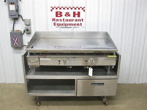 Keating 48 Nat Gas 4 Griddle Flat Miraclean Top 48bfld W Delfield Grill Stand