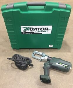 New Greenlee Gator Eccxl120 Pro 120vac 18v 6 ton Crimping Tool With Case