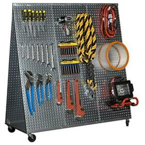 Alligator Board 48 L A Frame Metal Pegboard Wow Tool Cart wheels 20 Gauge Steel