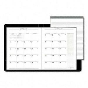 At a glance 7029005 Executive Monthly Planner Padfolio Unruled 9 X 11 Black