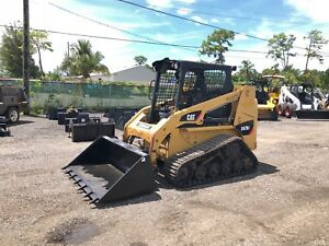2007 Caterpillar 247b2 Skid Steer Rubber Tracks Joystick Controls Open Cab