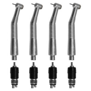 4pcs Ruixin Dental High Speed Handpiece Air Turbine Quick Coupler 4 Hole Fit Nsk