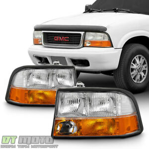 1998 2004 Gmc Sonoma S 15 98 01 Jimmy Bravada W fog Lights Headlights Headlamps