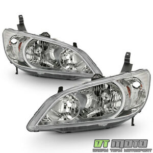For 2004 2005 Honda Civic 2 4 Door Headlights Headlamps Replacement Left Right
