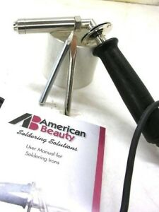 American Beauty 3138 175 Watt Soldering Iron 2 Tips Flat Pointed New