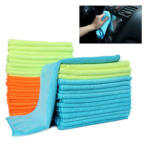 144pack Microfiber Cleaning Cloth Car Home Detailing Polishing Towel No Scratch
