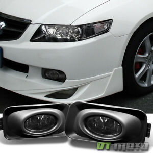 Smoked 2004 2005 Acura Tsx Bumper Fog Lights Driving Lamps W Switch Left Right