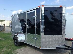 New 2019 6x12 6 X 12 V nosed Enclosed Cargo Motorcycle Trailer Ramp Loaded