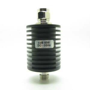 Rf Coaxial Attenuator 50w Watts 6db N Type Male To Female Dc To 3 0ghz 50 Ohm