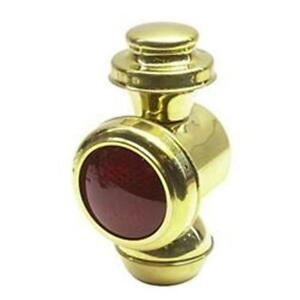 Speedway Tall Model T Polished Brass Cowl tail Light red Lens 12 Volt