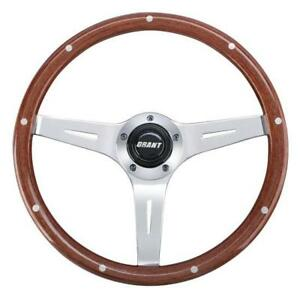 Grant 1175 Collectors Edition 3 Spoke Rivet Wood Steering Wheel 14 Inch