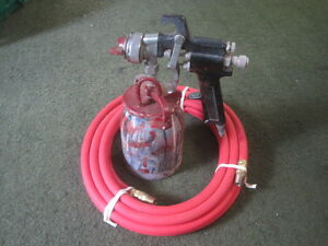 Air Paint Spray Gun Sprayer unmarked With 15 New 300psi Air Hose