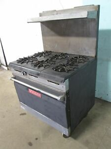vulcan 36l 77r Commercial H d nsf Natural Gas 6 Burners Stove W oven