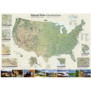 National Geographic Maps Re01020599 United States National Parks Wall Map