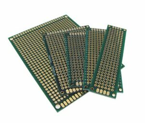 Double Side Prototype Board Perforated 2 54mm Through Hole Pack Of 5 Sizes