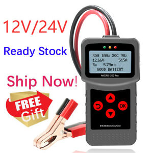 12v Car Battery Alternator Tester Auto Vehicle Battery Analyzer Cca Micro 200