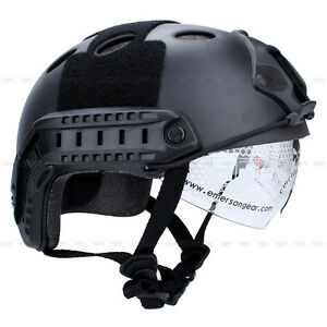 Military Tactical Airsoft Paintball Combat Protective Fast Helmet W Goggle US