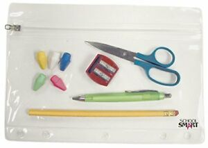 Zippered Vinyl Pouch Two Or Three Ring Binders Pack Of 24 Clear White