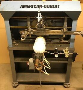 American dubuit D 150 Printing Machine For Round Bottles