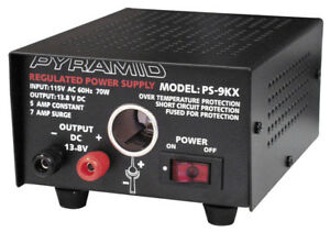 Pyramid Ps9kx Fully Regulated Power Supply With Cigarette Plug