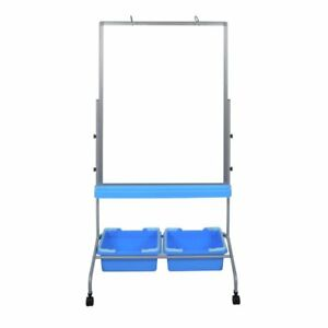 72 Chart Stand Dry Erase Whiteboard Easel With Storage Bins Homeschool Classroom