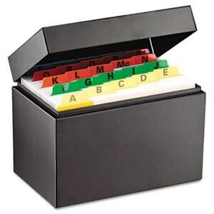 Mmf 263644bla Index Card File Holds 400 4 X 6 Cards 6 3 4 X 4 1 5 X 5