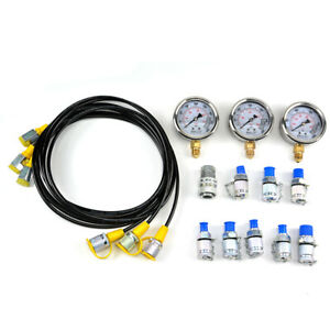 Excavator Hydraulic Pressure Gauge Diagnostic Test For Excavator Caterpillar Set