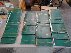 Lot Of 18 Vintage Green Tektronix Manuals